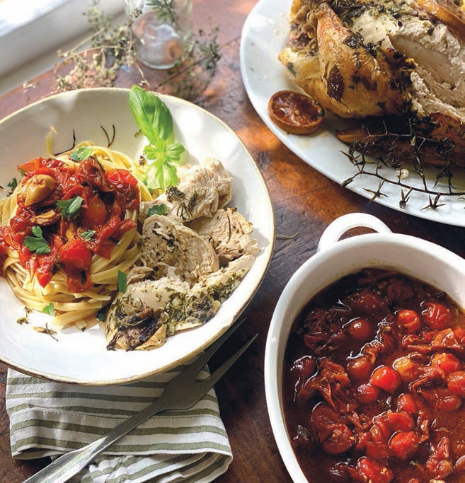 Paulina Brand's roasted chicken with pasta